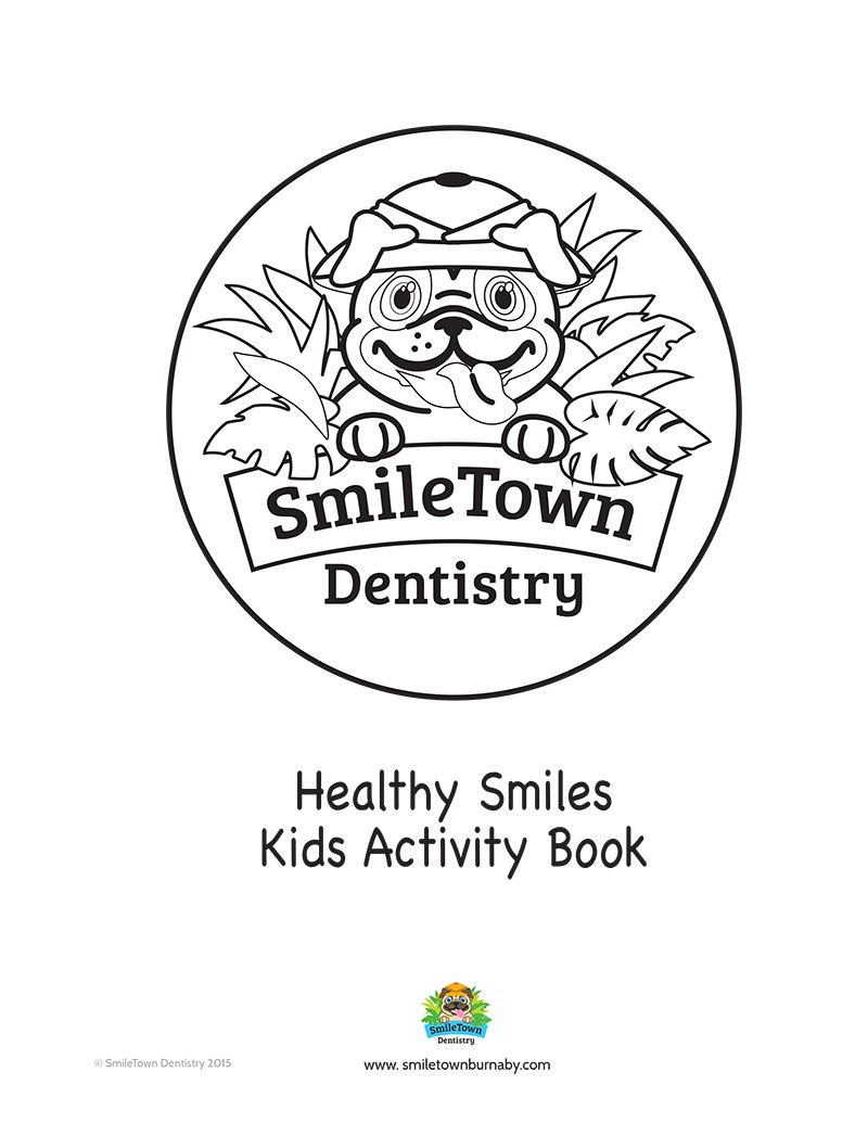 Smile Town Burnaby Dentist Activity Book