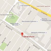 Contact & Map, Childrens Dentist Burnaby